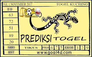 Prediksi Togel Kuching 1 November 2017
