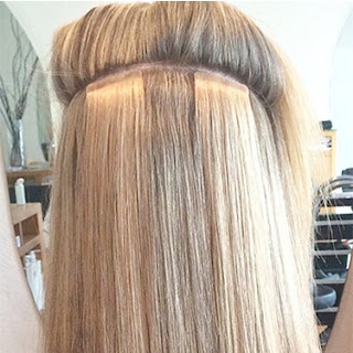 how to easily attach tape in hair extensions at home