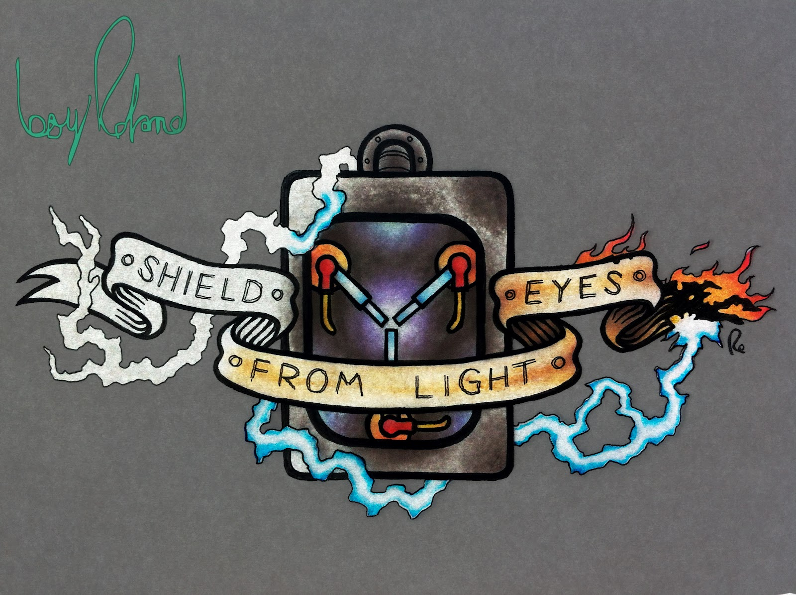 whats a boy roland shield eyes from light tattoo