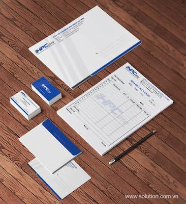 Thiết kế bộ nhận diện thương hiệu công ty HPC
