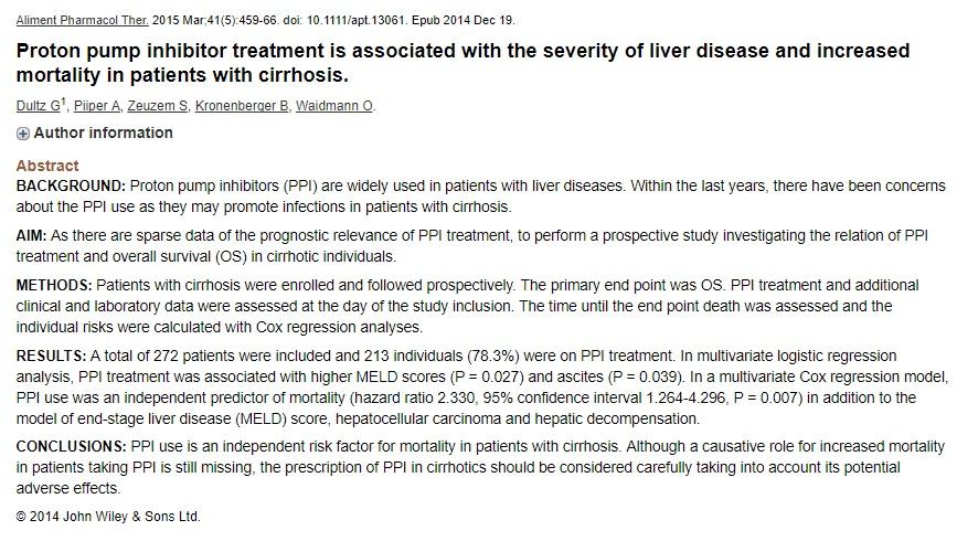 Healing Liver Cirrhosis Beware Of Antacids Ppis