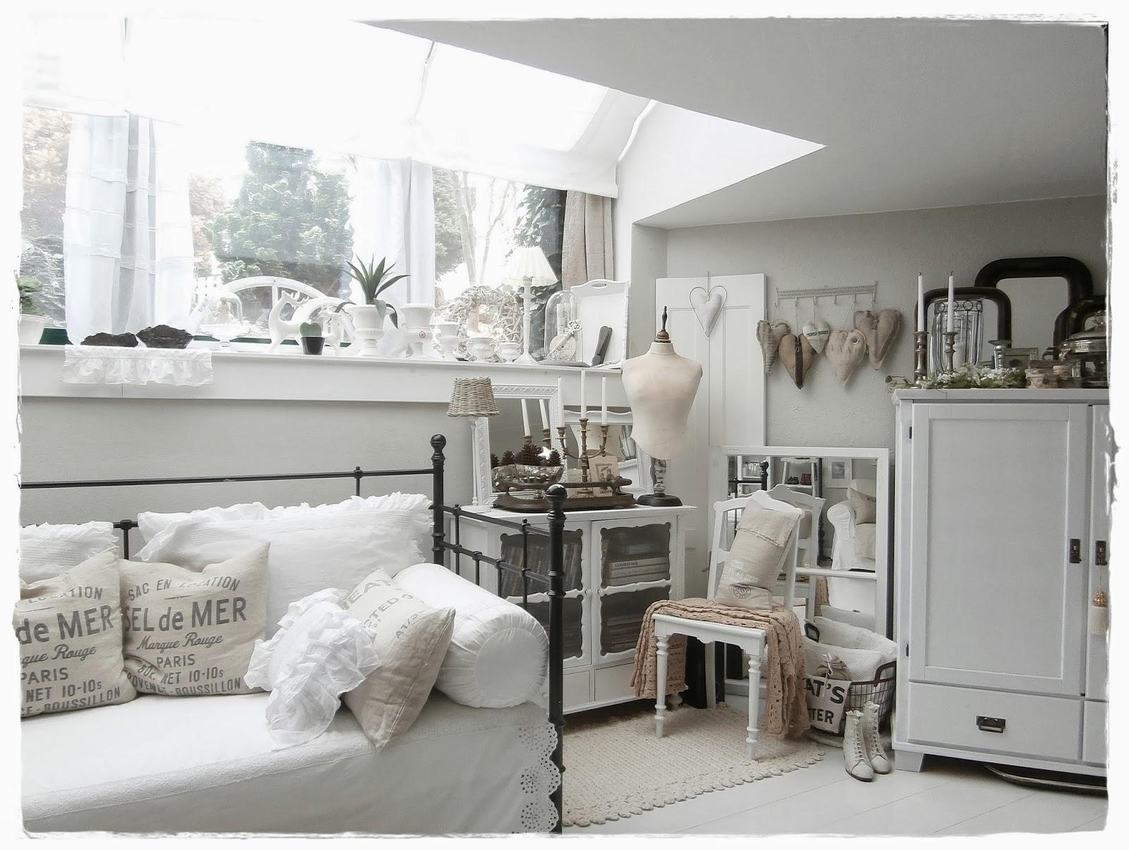 Shabby Landhaus: Vorher-Nachher....Wohnzimmer