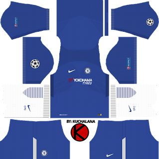 Chelsea F.C. Kits 2017/18 - Dream League Soccer