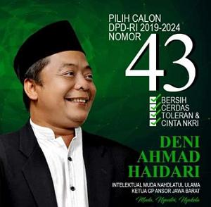 Deni Ahmad Haedari, satu-satunya calon DPD RI dari Purwakarta
