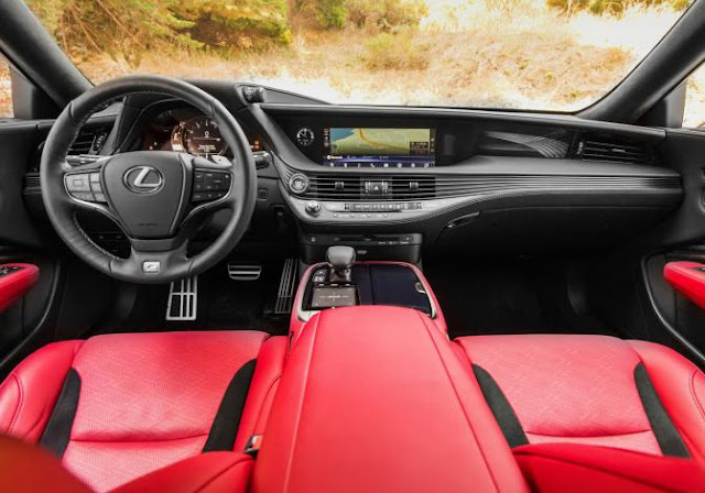 Interior view of 2018 Lexus LS 500 F SPORT