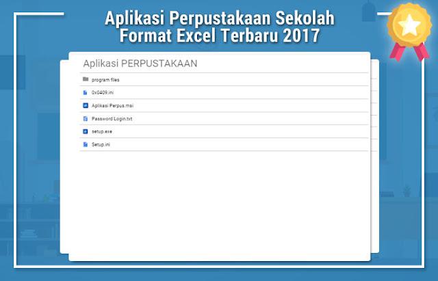 Aplikasi Perpustakaan Sekolah Format Excel Terbaru 2017