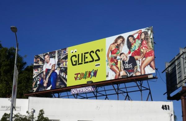 Guess J Balvin Vibras Spring 2019 billboard