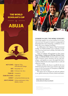 The World Scholars Cup Competition in Abuja  - 2018/2019 | 2nd Edition