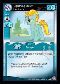 My Little Pony Lightning Dust, Last Resort Absolute Discord CCG Card