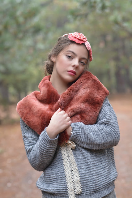 Faux Fur Mori Collar