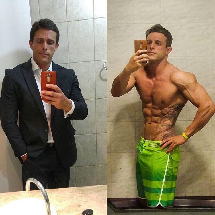 Rodrigo Varanda conciliava a profissão de advogado com a carreira no fisiculturismo. Foto: Arquivo pessoal