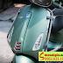 Mẫu sơn xe Vespa Sprin màu xanh rêu nhám cực đẹp