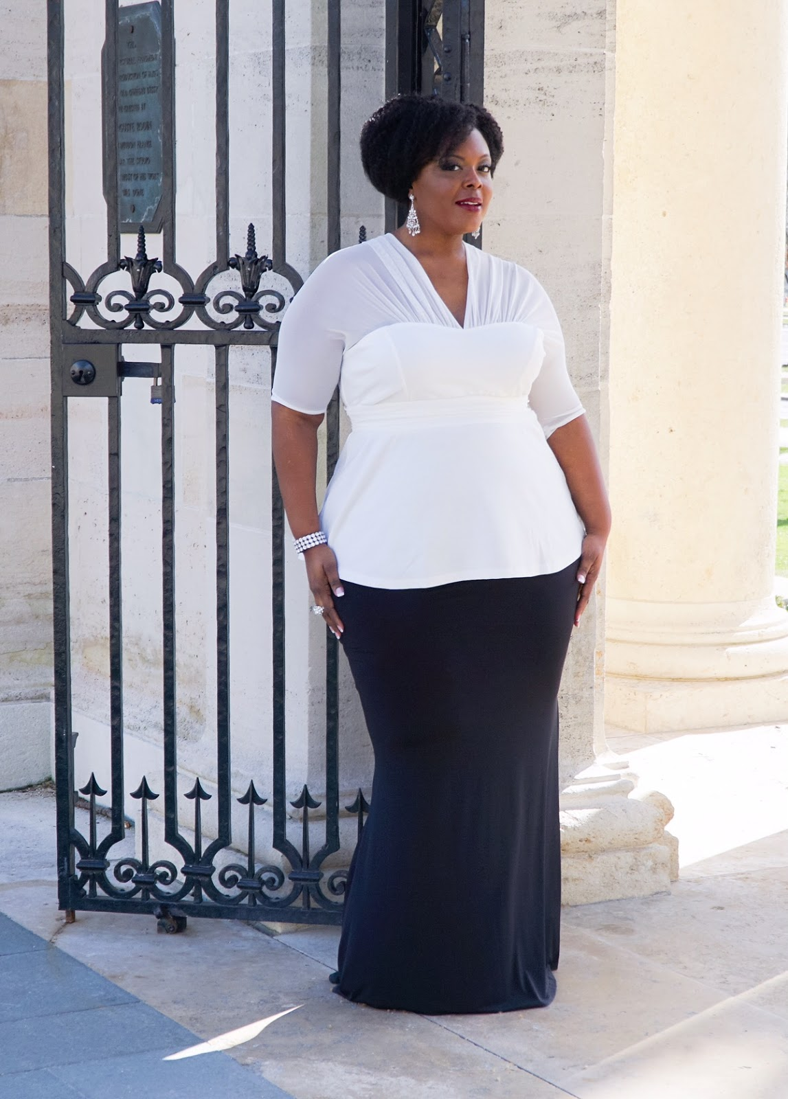 kiyonna peplum top, kiyonna white top, plus size peplum top