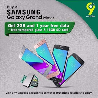 Get Free 2GB and 1 Year Free Data To Browse On Samsung Galaxy Prime+