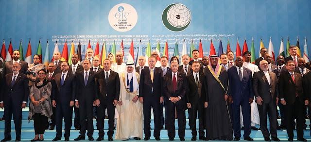 Représentants des pays membres de l'Organisation de Coopération Islamique réunis à Istanbul, le 22 mars 2019