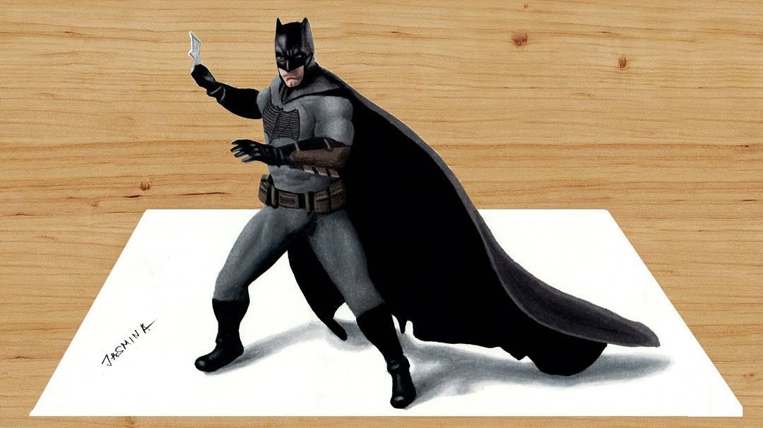 05-3D-Batman-Jasmina-Susak-Superheroes-and-Villains-in-2d-and-3d-Drawings-www-designstack-co