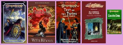 portadas del libro de fantasía El umbral del poder, de las leyendas de la dragonlance