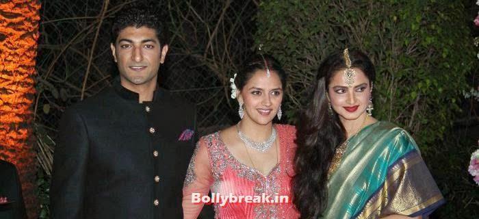 Varun Vora, Ahana Deol, Rekha, Ahana Deol Wedding & Reception Pics