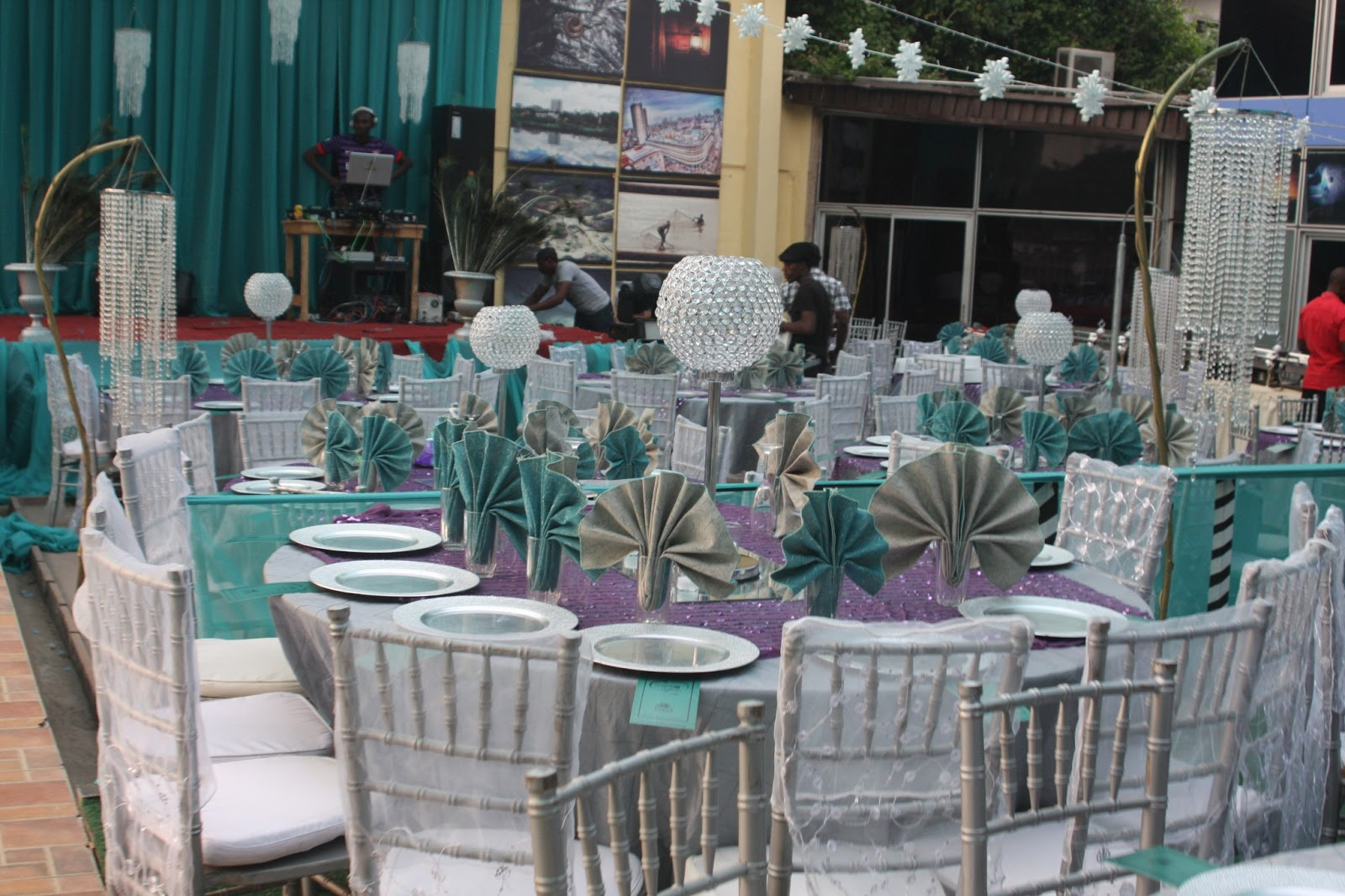 Aquarian Touch Events Ng Purple Teal Amp Silver Wedding Dinner