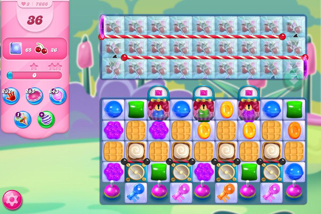 Candy Crush Saga level 7666