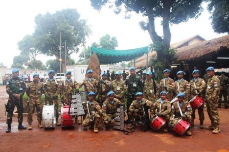 Prajurit TNI di Afrika Meriahkan UN Day