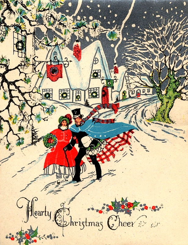A Collection of 20 Stunning Vintage-Inspired Christmas Cards ...