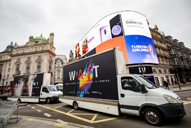Huawei ad trucks
