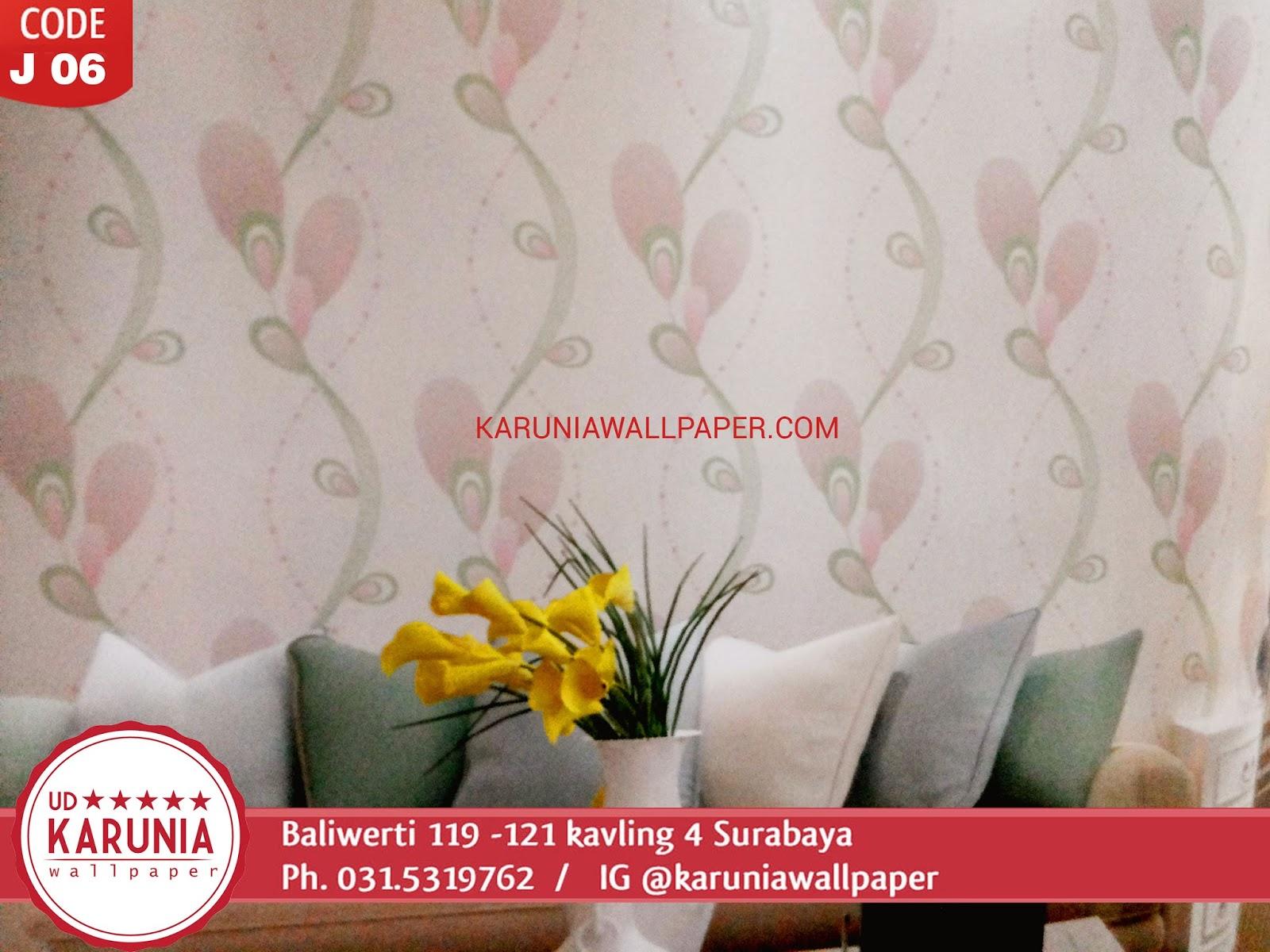 jual wallpaper dinding merah muda