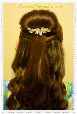Gorgeous Belle hair tutorial. Half up bun hairstyle from Beauty and the Beast.