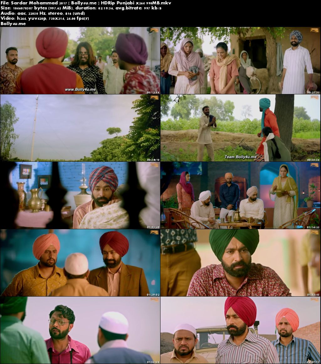Sardar Mohammad 2017 HDRip 950MB Punjabi x264 Download