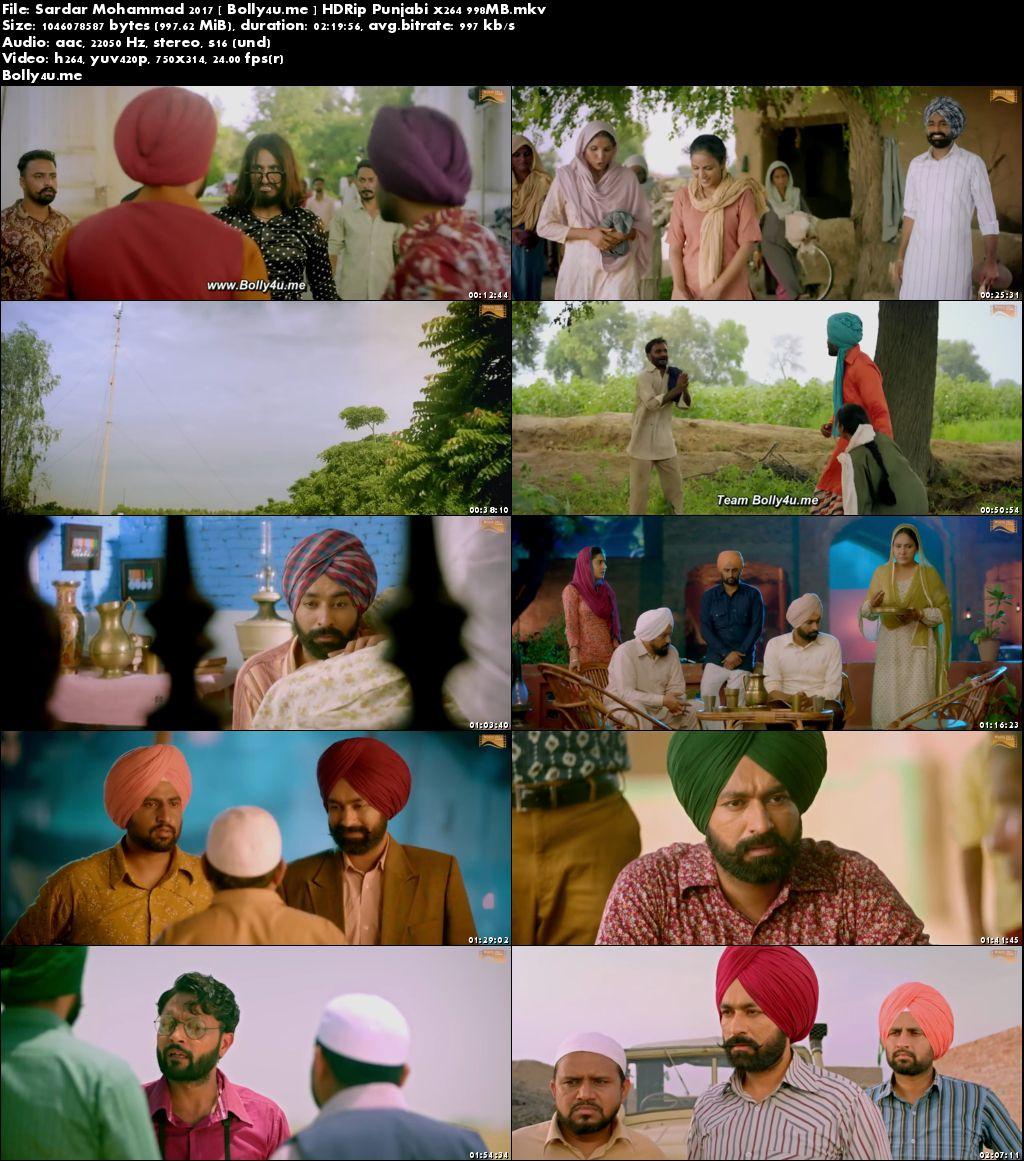 Sardar Mohammad 2017 HDRip 950MB Punjabi x264 Download