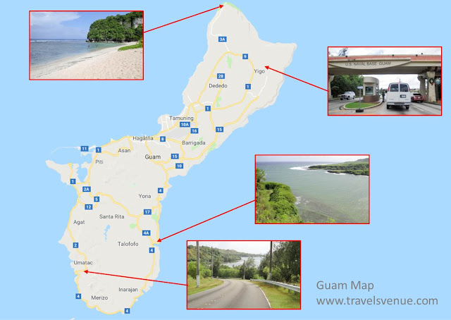 Selfdriving in Guam Map