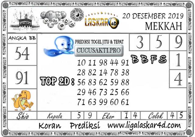 Prediksi Togel MEKKAH LASKAR4D 20 DESEMBER 2019
