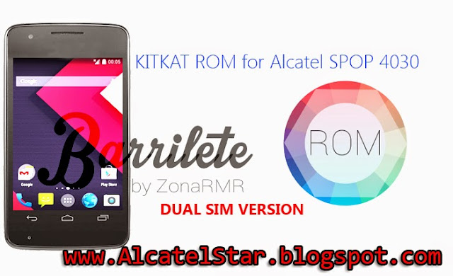 kitkat fast rom on alcatel one touch spop 4030 glory 2