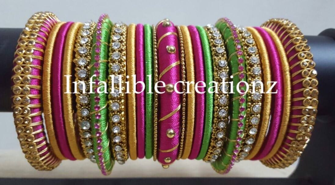Infalliblecreationz IC - Silk Thread Jewellery: Bridal Bangles Designs