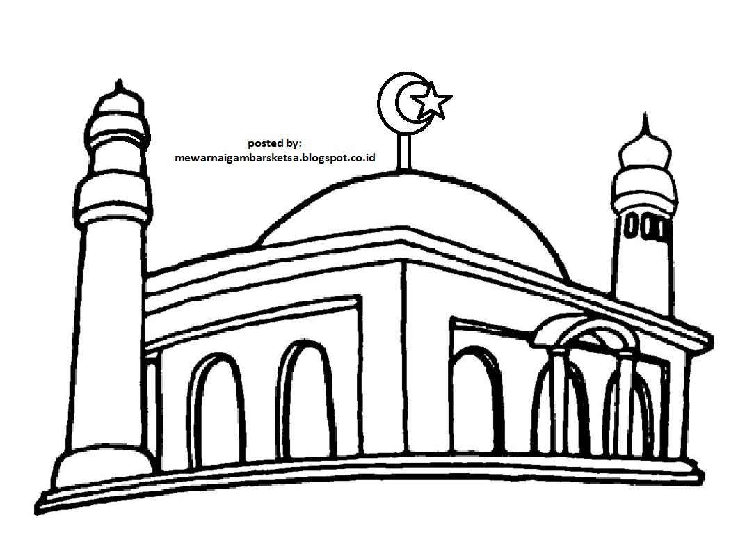 4570book Clipart Masjid Hitam Putih Deddy In Pack 5806