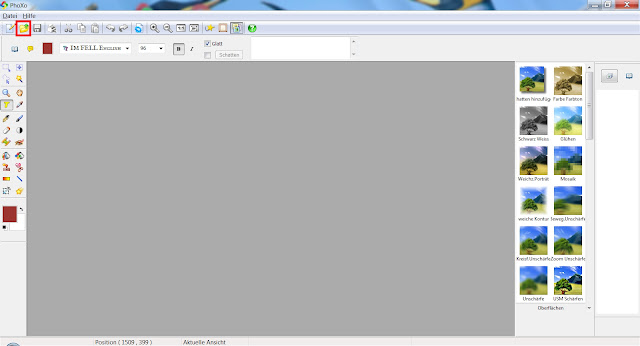 Screenshot PhoXo Arbeitsoberfläche