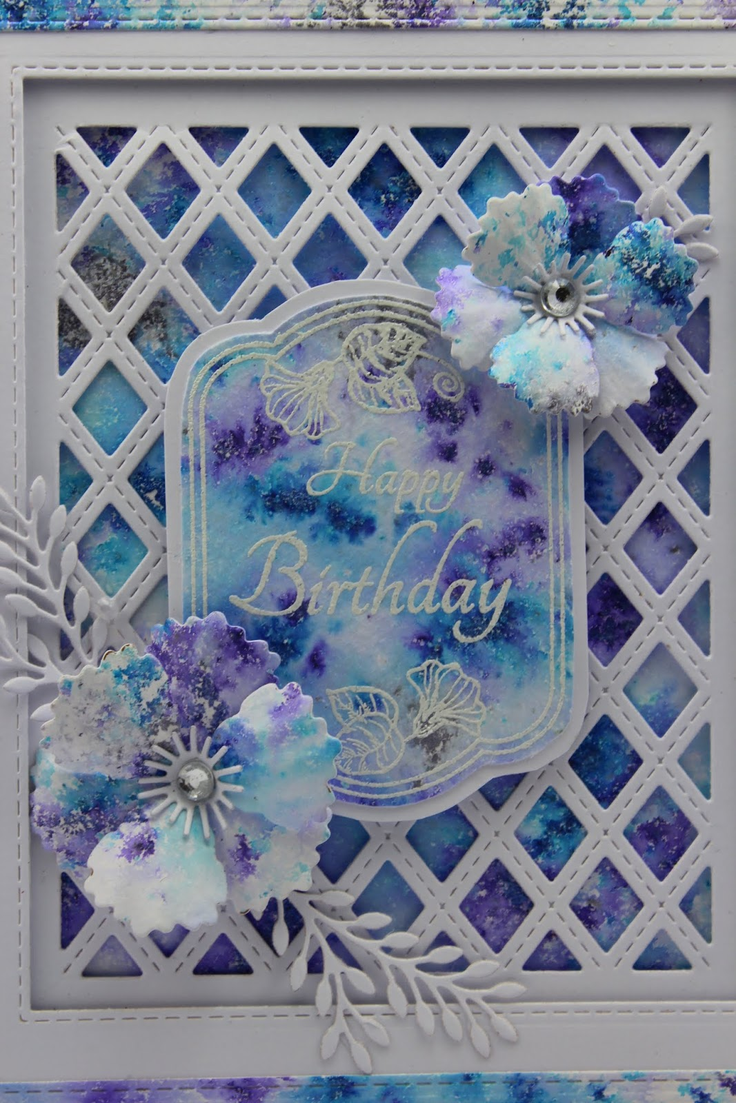 The card is made up as shown using just one sheet of watercolour card ...