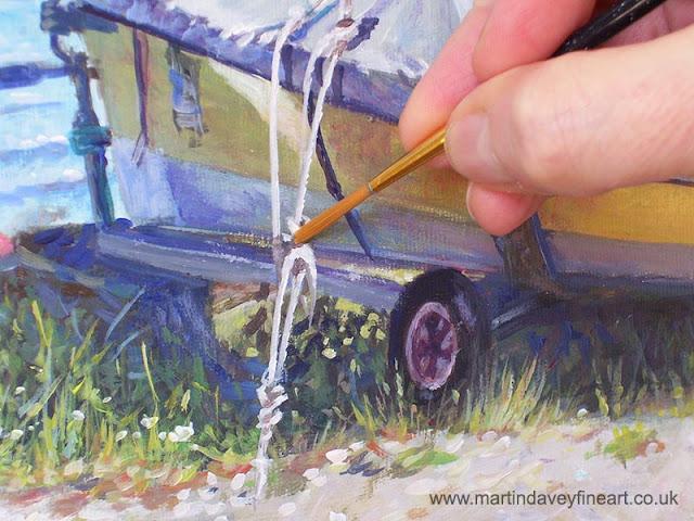 Artist m davey marine boat cover WIP ART