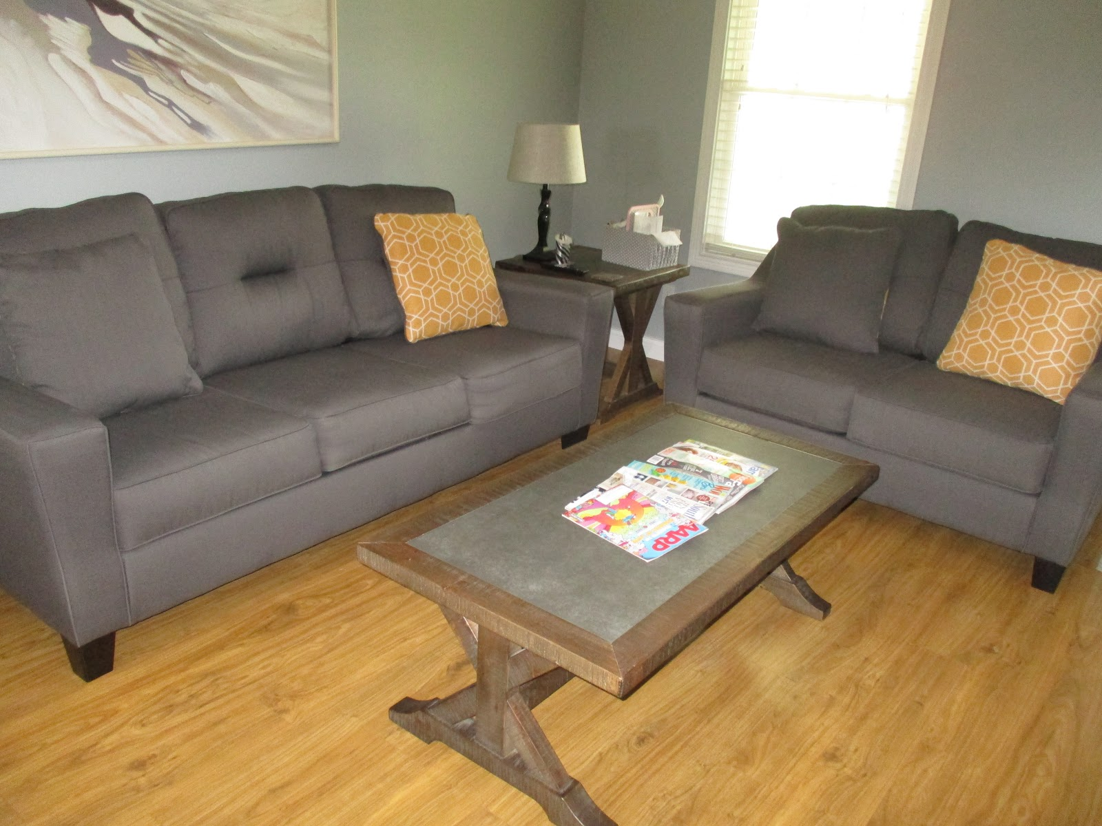 This Is The Cottage Living Room Furniture That I Bought At Corvinu0027s  Furniture. It Is Comfortable And Almost Child Proof.