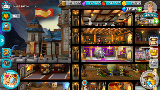 تحميل لعبة hustle castle مهكرة للاندرويد