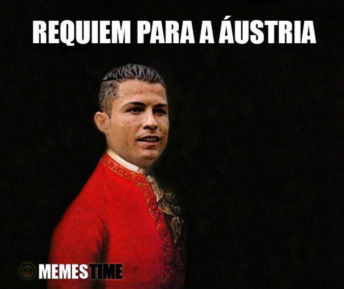 Meme Cristiano Ronaldo as Mozart – Requiem para a Áustria
