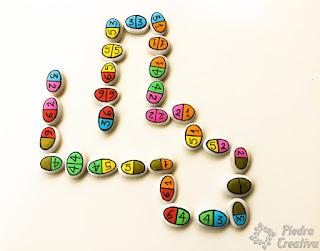 juegos didácticos, piedras decoradas