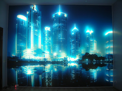 3D LED wallpaper for walls