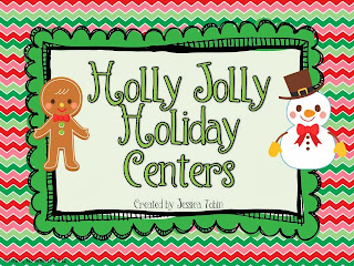 Christmas Centers for first grade students- engaging centers for the holidays