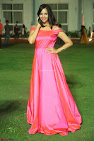 Actress Pujita Ponnada in beautiful red dress at Darshakudu music launch ~ Celebrities Galleries 017.JPG