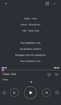 Lirik Lagu di Pemutar Musik Xiaomi