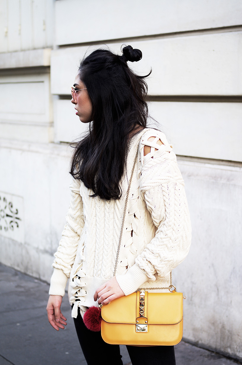 Elizabeth l Lace up outfit obsession blog mode l Zara Stradivarius Valentino Chanel l THEDEETSONE l http://thedeetsone.blogspot.fr
