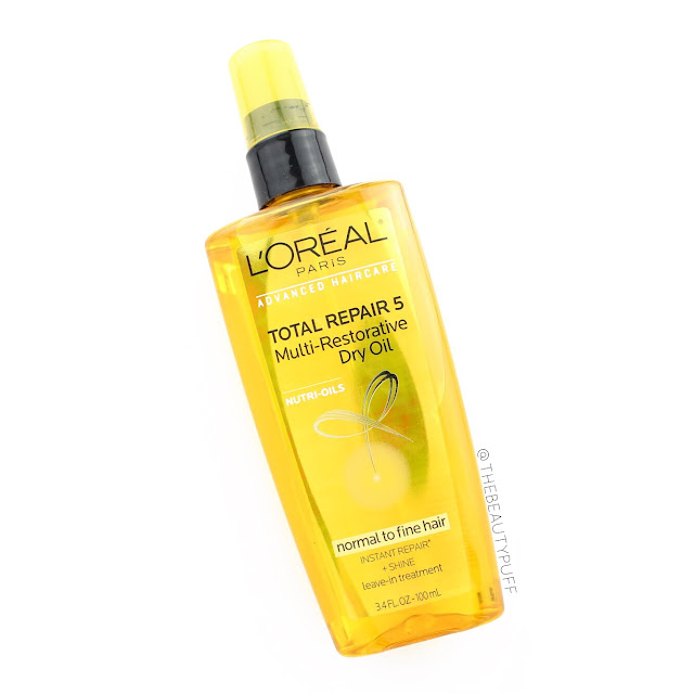 L'oreal Total Repair 5 Multi-Restorative Dry Oil  |  The Beauty Puff