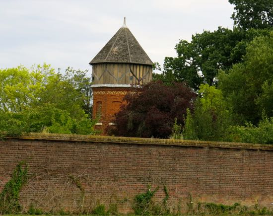 Photograph of The water tower at North Mymms Park - photograph taken August, 2018 Image by Peter Miller, part of the Peter Miller Collection
